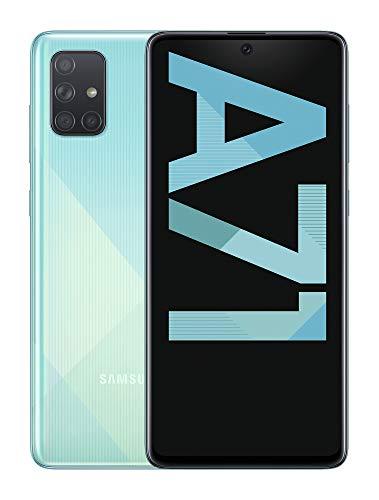 """Samsung Galaxy A71 - Smartphone de 6.7"""" FHD+ (4G, Dual SIM, 6 GB RAM, 128 GB ROM, Cámara Trasera 64.0 MP + 12.0 MP (UW) + 5.0 MP (Macro) + 5 MP, Cámara Frontal 32 MP) Color Azul [Versión Española]"""