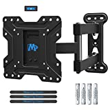 Mounting Dream TV Wall Mount Bracket Swivel and Tilt for Most 17-39 Inch LED, LCD and OLED Flat Screen TVs up to VESA 200 x 200mm and 27 kg, with Full Motion Articulating Arm, MD2413-S-02