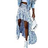 Falda Maxi Floral Boho para Mujer Faldas con Dobladillo con...
