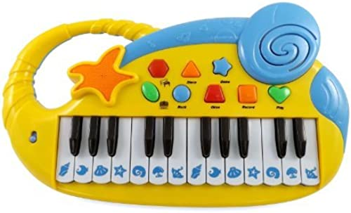 Sea Side Music 24 Keys Electronic Musical Piano Keyboard for Kids with Record and Playback by Liberty Imports