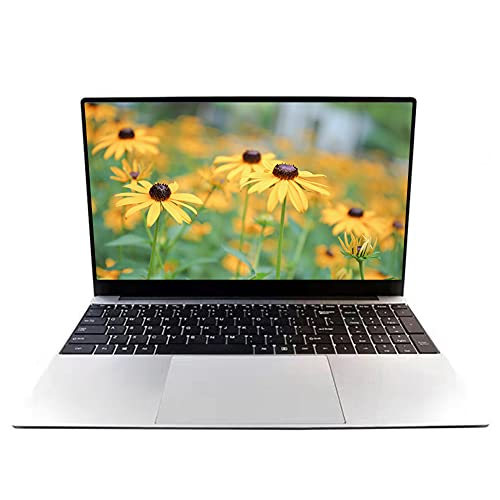 15,6 Zoll Laptop Notebook, Intel J4115 Quad Core CPU, 8 GB RAM, 128 GB SSD, Windows 10 Pro Betriebssystem, Full HD IPS 1920 x 1080, Bluetooth, 2 MP Webcam, Leicht und Tragbar