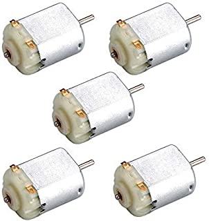 BestTong 5PCS 130 DC Motor Mini Electric Motor, DC1.5-3V 15400RPM Carbon Brush High Speed Torque Electric Toy Cars Engine Motor Kit, Electric Machinery Motor for DIY Fan Toys Cars Models