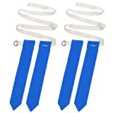Abaodam Lot de 2 ceintures de football américain pour adultes - Accessoires pour jeux tactiles et entraînements (ceinture blanche avec drapeaux bleus)