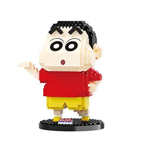 BAIDEFENG Mini-Blöcke Wachsmalstift Shin-Chan-Bekleidungsserie Baukasten Modell Nano-Mikroblöcke 3D-Puzzle-Mikrosteine Mini-Blöcke DIY-Spielzeug Für Kinder,A