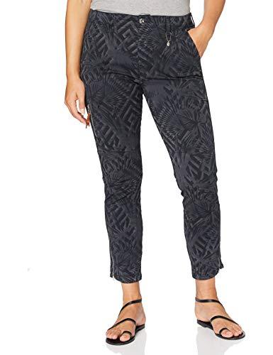 MAC Jeans Damen Rich Cargo Cotton Straight Jeans, Blau (Dark Blue 198v), 34W / 26L