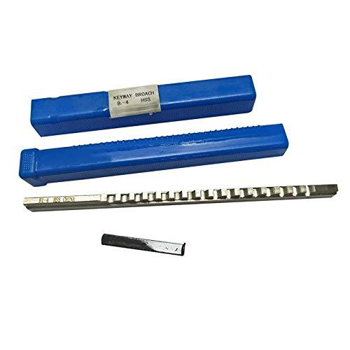 WNJ-Tool, 2pcs 4 mm HSS B1 Push-Tipo chavetero brocha de la