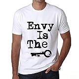 Homme T Shirt Graphique Imprimé Vintage Tee Envy is The Key Blanc