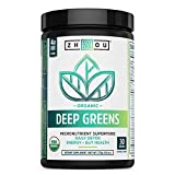 Zhou Deep Greens | Organic | Morning Complete Prebiotic Probiotic Powder | Green Blend of Wheatgrass, Spirulina, and Maca Powder | 9.6 oz, 30 Servings