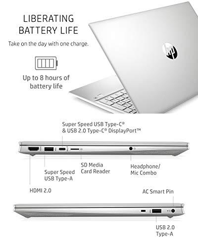 Product Image 6: HP Pavilion 15 Laptop, 11th Gen Intel Core i7-1165G7 Processor, 16 GB RAM, 512 GB SSD Storage, Full HD IPS Micro-Edge Display, Windows 10 Pro, Compact Design, Long Battery Life (15-eg0021nr, 2020)