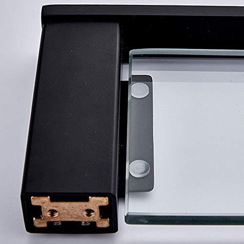 MIAOKJWSJ douche plank roestvrij staal gratis Punch badkamer plank dressoir dressoir tafel gehard glas spiegel frame enkele plank waarborgen kwaliteit