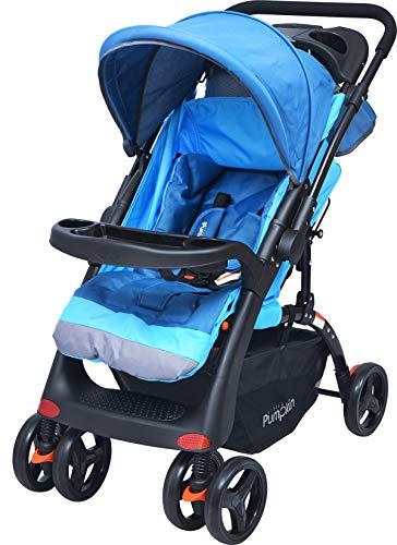 Little Pumpkin Kiddie Kingdom Grand Stroller and Pram - The Comfortable Baby Stroller and Pram (Blue)