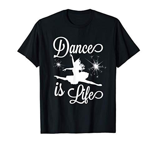 Dance Is Life Beautiful Dancer Ballerina Contemporary Ballet T-Shirt