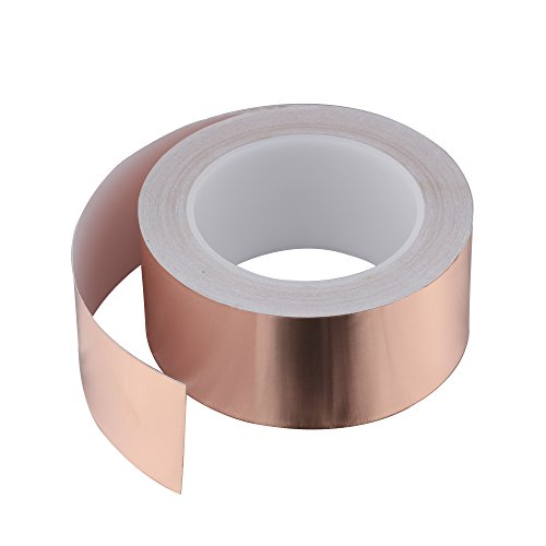 SYCEES 25M x 50mm EMI Kapton Tape Klebeband Selbstklebend Abschirmband Kupferfolie Kupferband Schneckenschutz