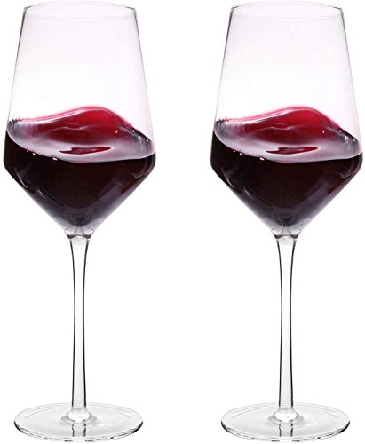 Hand Blown Crystal Wine Glasses - Bella Vino Classy Red/White Wine Glass Made from 100% Lead-Free...