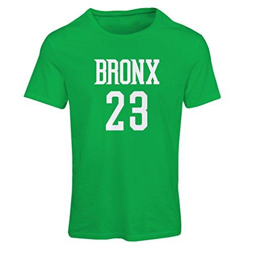 lepni.me Camiseta Mujer Bronx 23 Freestyle, Nueva York, Ropa Deportiva de Moda (Small Verde Blanco)