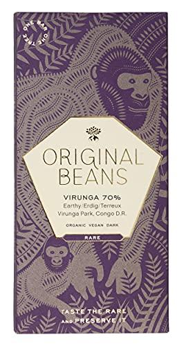 Original Beans - BIO Virunga 70% Schokolade - 70g Tafel / CH-BIO-006- Noten Von Schattenmorellen, Dunkler Schokolade Und Schwarzem Tee