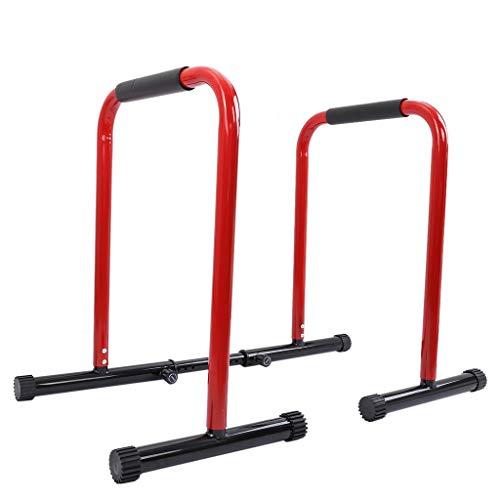 Charella Power Tower - Barra de dominadas para gimnasio en casa, equipo de entrenamiento de fuerza (rojo 2)