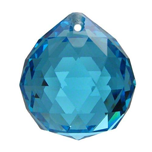 Kristall Kugel Ø 30mm Aquamarin ~ Türkis K9 ~ Feng Shui Suncatcher