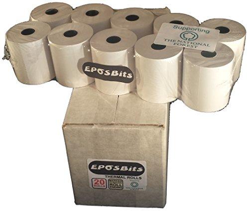 eposbits® Marke Kassenrollen für Casio: seg-1ses10se-s2000se-s300se-s3000tk-t200& Sharp: xe-a203xe-a137xe-a207W xe-a213xe-a217xe-a307& Sam4s: er-260er-380m