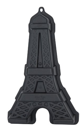 DE BUYER Moulflex Eiffel Turm, Silikon, grau, 27.9 x 20.1 x 10.9 cm