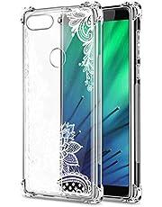 Oihxse Cristal Compatible con OPPO Realme 6PRO Funda Transparente TPU Silicona Estuche Airbag Esquinas Anti-Choque Anti Rasguños Diseño Rosa Flower Caso (Flores B3)