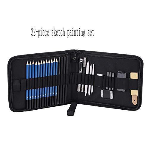 Tekening Schetsen Potloden Set met/Set H & B Schetsen Potloden Set Professional tekenmateriaal Assortiment KitPainting pen black 33pcs