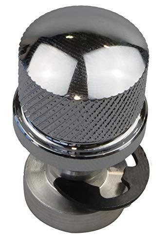 IGUANA CUSTOM - Pack de tornillo de asiento de aluminio cromado con rosca de anclaje hembra para anclar asientos en guardabarros Harley Davidson. Rosca 1/4'-20.
