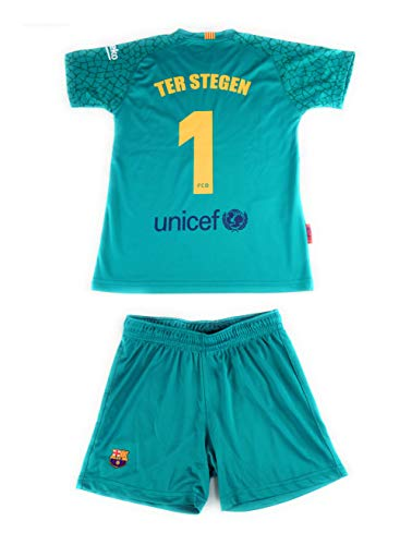 Rogers Equipación 17-18 FC Barcelona niño TER STEGEN camiseta pantalón tallas 6 a 14
