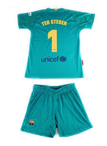 Rogers Equipación 17-18 FC Barcelona niño TER STEGEN camiseta pantalón tallas 6 a 14 (12)