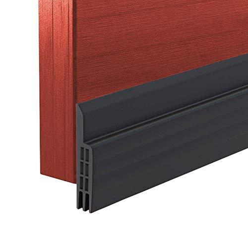 Zugluftstopper für Türen, Türdichtung Unten Selbstklebend, tür Dichtung Selbstklebende, Luftzugstopper Tuerdichtung Schallschutz für Türen (schwarz)