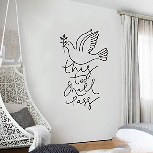 Axlgw Friedenstaube Wandaufkleber Einfache Kreative Wohnwand/Tür Hintergrunddekoration Wandkunst Aufkleber Tapete Wohnkultur Aufkleber