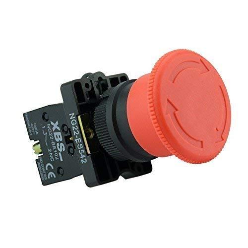 XBS Not Aus Schalter Taster Notschalter für 600V und 10A mit in rotem Knopf NG22-ES542 5422
