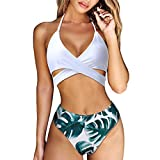 MOOSKINI Womens Padded Push-up Bikini Set Bathing Suits Two Pieces Swimsuit Green Medium