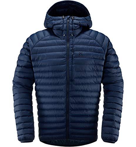 Haglöfs Winterjacke Herren Winterjacke Essens Mimic Hood Wärmend, Atmungsaktiv, Wasserabweisend Tarn Blue L L