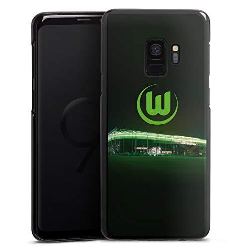 DeinDesign Hard Case kompatibel mit Samsung Galaxy S9 Schutzhülle schwarz Smartphone Backcover Offizielles Lizenzprodukt VFL Wolfsburg Stadion