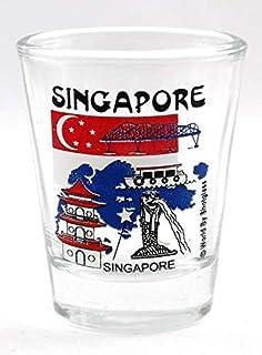 Singapore Landmarks Collage Shot Glass