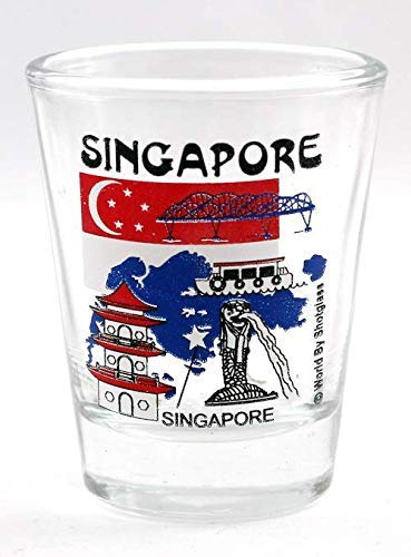 Singapore Landmarks Collage Shot Glass