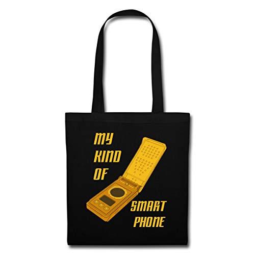 Spreadshirt Star Trek Discovery Communicator Smartphone Stoffbeutel, Schwarz