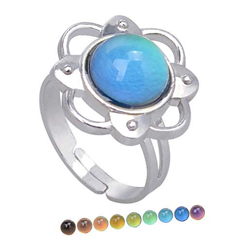 Harilla Elegant Women Color Change Emotion Mood Stone Tamaño Ajustable - a