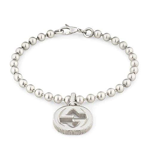 Gucci YBA479226001020 - Pulsera entrelazada de plata (20 cm)
