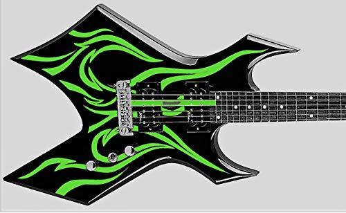 Wartribe Warlock King Stickers Inlay Vinyl Guitarra & Bass Pegatinas Guitarra (verde)