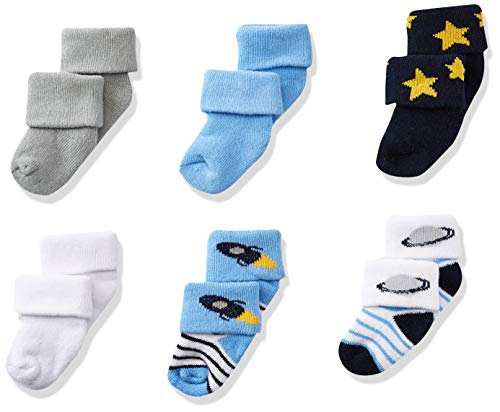 Product Image of the Luvable Friends Unisex Newborn and Baby Socks Set, Space, 0-3 Months