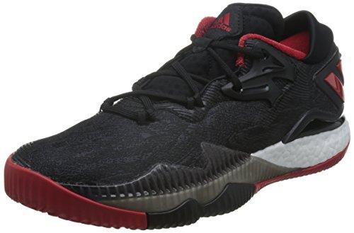 adidas Crazylight Boost Low 2016, Zapatillas de Baloncesto Hombre, Negro (Negbas/Escarl/Negbas), 46 2/3