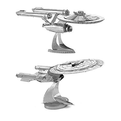 Fascinations Metal Earth 3D Metal Model Kits Star Trek Set of 2 - USS Enterprise NCC-1701D & USS Enterprise NCC-1701