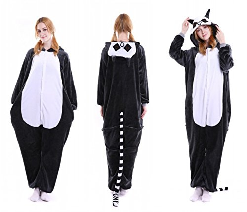 Lolidress - Pijama de una Pieza - para Mujer Beige Lémur S