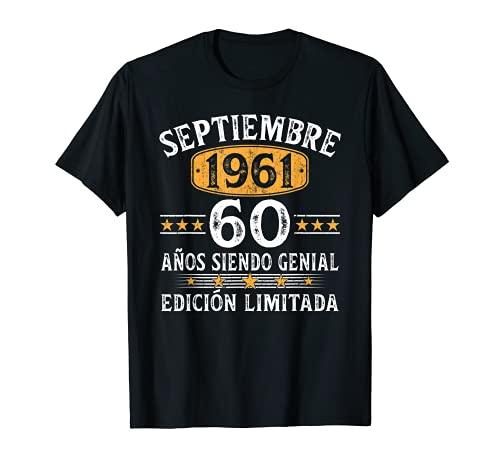Nacido En Septiembre 1961 60 Años Cumpleaños Regalo Hombre Camiseta
