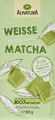 Alnatura Vegane, Weiße Matcha Schokolade, 80g
