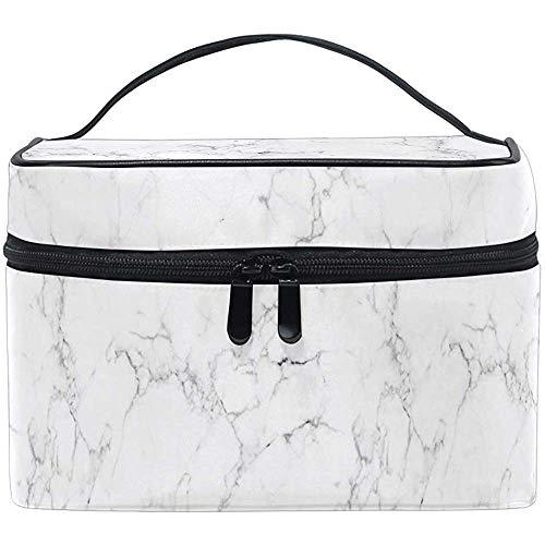 Toilettas wit zwart marmer reiscosmeticaborstel tas opbergorganisator groot voor meisjes vrouwen