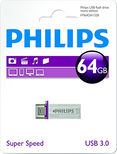 Philips OTG Mono - Memoria USB de 64 GB