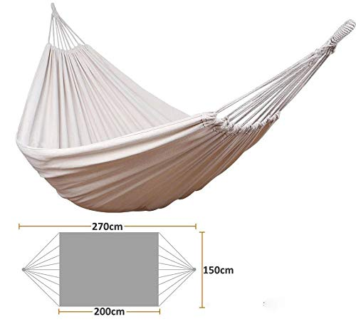 Nobran Fauteuil suspendu confortable et durable Grand hamac d'extérieur, peut être accroché dans le jardin, la chambre, le salon, sur le porche 200 x 150 cm